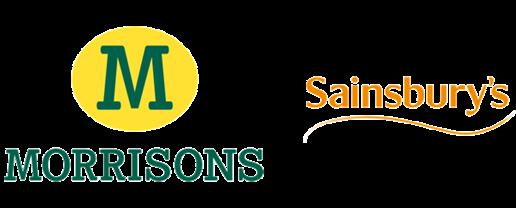 Morrisons and Sainsburys